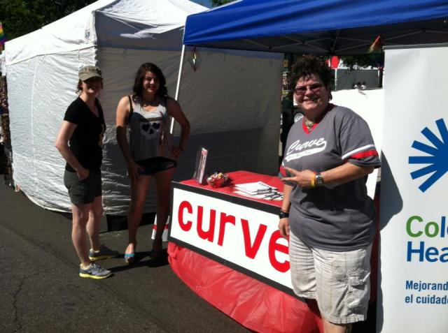 Curve SMI Dina at Denver Pride, and that's the Curve sign she made. :)