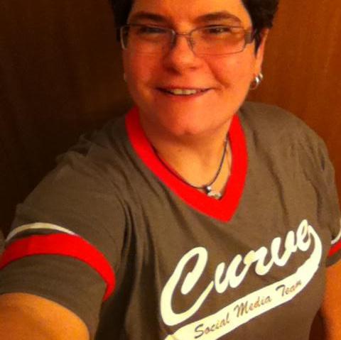 Curve SMI Dina Faye Gilmore in her Curve Social Media Team shirt.