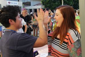 Me high fiving Mary Lambert at the Dinah Shore in Palm Springs, CA